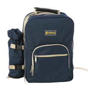 Outdoor-Picknick-Rucksack Rucksack Camping-Ausflug Grill warmes Mittagessen Tasche -(Blau,)