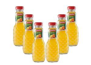 Granini Orange / Saft - 6er Set Granini Trinkgenuss - 6x Orange 0,2L Saft inkl. Pfand MEHRWEG
