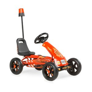 Exit Go Kart 87x50 cm Foxy Fire rot Kinder Fun-Kart Tretauto Kinderspiekzeug
