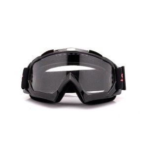 Crossbrille Skibrille Motocross Brille Sport Sonnenbrille Schneebrillen Schwarz-Transparent