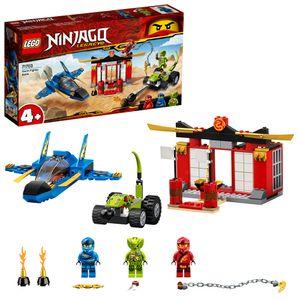 LEGO 71703 NINJAGO Legacy 4+ Kräftemessen mit dem Donner-Jet Set, Meister des Spinjitzu Spielzeuge für Kinder