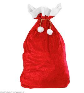 Widmann Karneval - Weihnachtsmann Sack aus Samt 60x100 cm