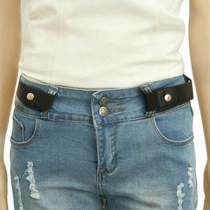 Damen Herren Gürtel Unsichtbar Elastisch Stretchgürtel ohne Gürtelschnalle 102cm