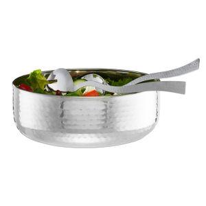 relaxdays Salatschüssel mit Besteck