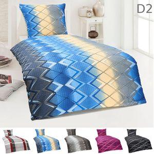 Dreamhome 2 teilige Bettwäsche Set Seersucker  Bettbezug 135x200 155x220 Kopfkissenbezug 80x80 Kissenbezug  Deckenbezug, Größe:155 x 220 cm, Design - Motiv:Design 2
