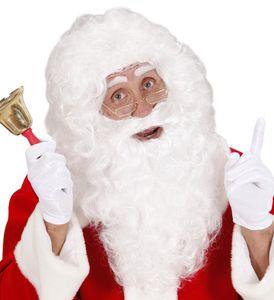 WEIßE DELUXE PERÜCKE & BART Weihnachtsmann Kostüm Zubehör