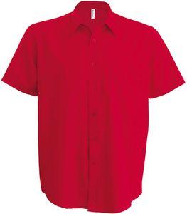 Kariban Herren Hemd Ace kurzarm K551 Rot Classic Red XL
