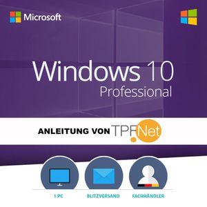 Original MS Windows 10 Professional 64 Bit Deutsch Vollversion | Originaler Aktivierungsschlüssel inkl. Anleitung von TPFNet® | Versand 7 Tage die Woche per E-Mail in max. 60Min