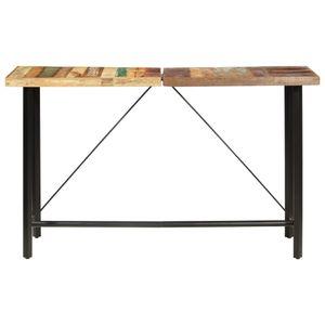 Bartisch 180 x 70 x 107 cm Recyceltes Massivholz Esszimmertisch für 6 Personen