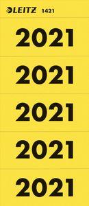 """LEITZ Ordner-Inhaltsschild """"Jahreszahl 2021"""" gelb"""