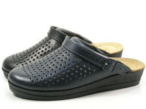 Rohde Neustadt D 1445 Schuhe Damen Pantoletten Clogs Weite G  , Größe:39 EU, Farbe:Blau