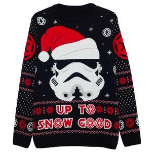Star Wars - Up To Snow Good Pullover für Herren - weihnachtliches Design PG1338 (5XL) (Schwarz/Rot/Weiß)