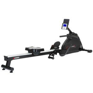 HAMMER Rudergerät Rudermaschine Cobra XTR Plus für zu Hause, Smartphone-/Tablethalterung, Körpergewicht bis 130kg