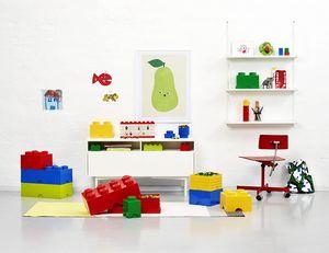 LEGO Aufbewahrungsbox mit 8 Noppen - rosa