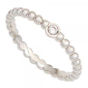 JOBO Damen Ring 950 Platin 1 Diamant Brillant 0,05ct. Platinring Größe 54