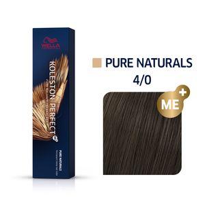 Wella Professionals Koleston Perfect Me+ Pure Naturals Professionelle permanente Haarfarbe 4/0 60 ml