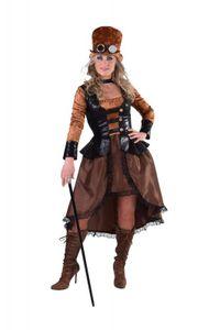 M216179-XXL Damen Steampunk Piraten Kostüm Gr.XXL