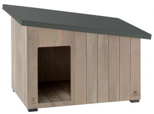 Ferplast hundehütte Argo 100 114,5 x 73 cm Holz grau