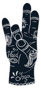 dekodino® Wandtattoo Indien Handzeichen Ornamente Wandsticker Dekoration
