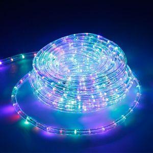 ECD Germany LED Lichtschlauch Lichterschlauch 10 Meter - RGB/ Bunt - 36 LEDs/m - Innen/Außsen - IP44 - Lichterkette Lichtband Licht Leucht Dekoration Schlauch Leiste Streifen Strip