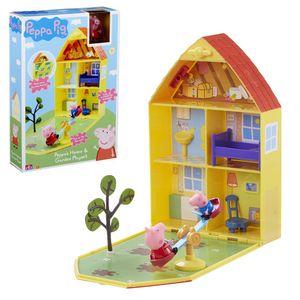 Peppa Wutz Haus mit Garten zusammklapberes Haus zum Spielen und Mitnehmen Peppa Pig