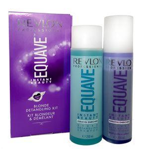 Revlon Equave Instant Beauty Blonde Detangling Keratin Kit - Shampoo 250ml + Blonde Conditioner 200ml