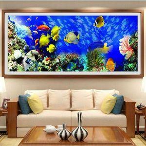 5D Unterwasserwelt Diamond Painting Full Diamant Stickerei Malerei Stickpackung Wohndekoration Bastelsets Handgemachtes Wohnzimmer Schlafzimmer Wanddeko