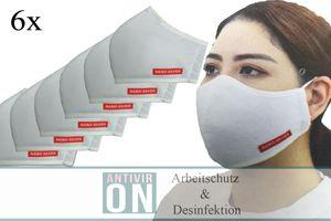 6X  Antiviron Mund-Nasenschutz Mundschutzmaske Nano Silver Wiederverwendbar Maske antibakteriell 3 lagig Mundschutz Blitzversand Versand aus Herzebrock