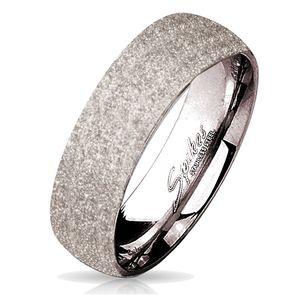 viva-adorno Gr. 62 (19,7 mm Ø) Damen & Herren Edelstahl Ring Partnerring Verlobungsring mit diamantierter Glitzer Oberfläche RS56 silber,