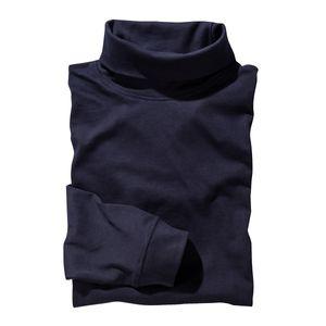 XXL Redfield Roy Rollkragen-Langarmshirt dunkelblau , Größe:3XL