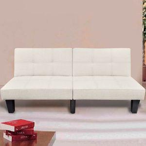 Huicheng Schlafsofa Verstellbar Sofabett Beige