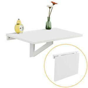 SoBuy Wandklapptisch,Küchentisch klein, weiß,FWT03-W