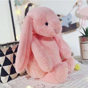 Rosa Hase Puppe Kind Plüschtiere Kissen Süßer Hase Weiches Plüschtierkaninchen Ausgestopftes Tier Kindergeschenk