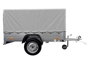 Pkw-Anhänger 230x125 Garden Trailer 230 KIPP Unitrailer 750 kg mit Stützrad, Hochplane und Hochspriegel