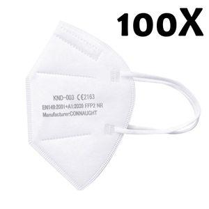 FFP2 Atemschutzmaske, 100 Stück FFP2 Maske  Gesichtsmasken Mundschutz Masken