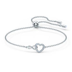 Swarovski Armband 5524421 Infinity Heart, weiss, rhodiniert