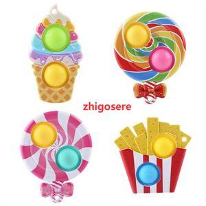 4 Stück Fidget Spinner Antistress Spielzeug Lutscher-Ornamente Erwachsene Kinder Push Bubble Fidget Sensory Toy