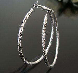 Ohrringe Creolen 6cm Silber plattiert Schmuck Damen Ohrcreolen O111