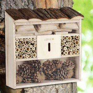 Insektenhotel 'Bug's Inn' aus Holz Insektenhaus Bienenhotel Haus Nistkasten Brutkasten Imker Insekten