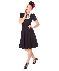 SugarShock Scherin 50er retro Polka Dots Petticoat Kleid, Größe:XXL, Farbe:schwarz weiss