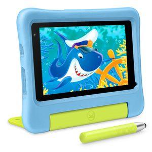 Vankyo MatrixPad S7 Kinder Tablet 7 Zoll, 2GB RAM, 32GB ROM, 5MP Kamera, Tablet Kinder mit Schutzhülle und Stift, Kidoz Vorinstalliert, Elternkontrolle, Ideal für Kinder ab 3 Jahre , blau