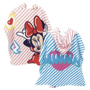 Minnie Maus 2 Badeponcho Kapuzenponcho Bademantel Handtuch Strandtuch Badetuch