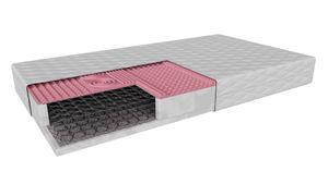 Sprungfedermatratze Imola (80x180cm) H2 mittelweich, Bonnell Matratze mit 7-Zonen-Profilschaum im antiallergische Abdeckung