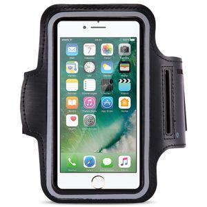 Jogging Tasche für Apple iPhone 7 Schwarz Hülle Sportarmband Fitness Sport Case