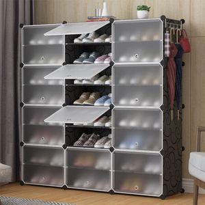 Schuhschrank modular DIY Steckregal System  Kunststoff Schuhablage, Garderobe Schuhregal 12 Fächer