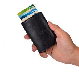 Kartenetui Geldbörse Geldklammer RFID-Schutz Brieftasche Farbe Schwarz Geschenk