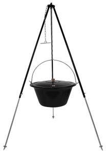 Gulaschkessel 30 Liter Dreibein 180 cm mit Deckel