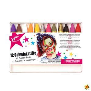 Kinderschminken, 12 Schminkstifte Set