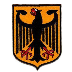 Flagge Wappen Deutschland Adler Bundesadler - Aufnäher, Bügelbild, Aufbügler, Applikationen, Patches, Flicken, zum aufbügeln, Größe: 7,8 x 5,9 cm