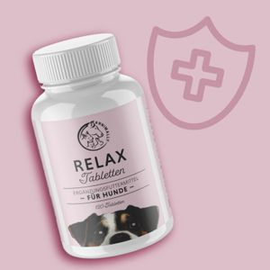 Relax Tabletten 120 Stück - Beruhigungsmittel Hund - Baldrian, Johanniskraut, L-Tryptophan, etc. - Ideal bei Angst vor Silvester, Gewitter, Reisen